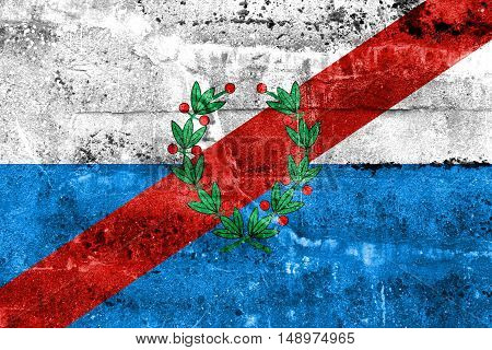 Flag Of La Rioja Province, Argentina, Painted On Dirty Wall