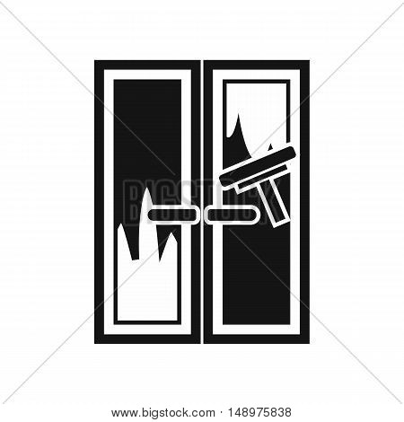 Window cleaning icon in simple style on a white background vector illustration