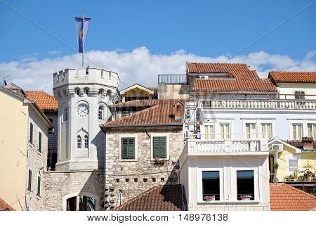 Herceg Novi Clocktower Old Town, Montenegro