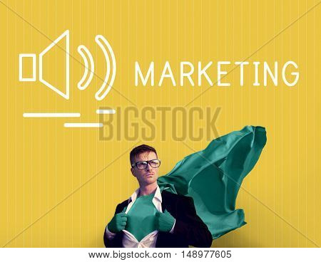 Marketing  Business Market Promotion Strategy Concept