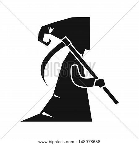 Grim reaper icon in simple style on a white background vector illustration