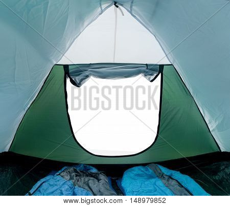 Camp tent inside isolated view witout picture