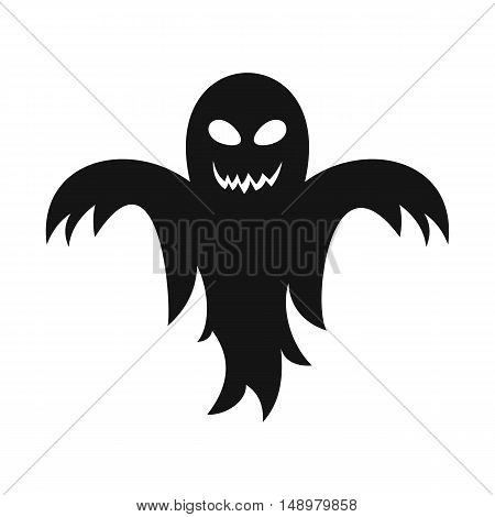 Ghost icon in simple style on a white background vector illustration