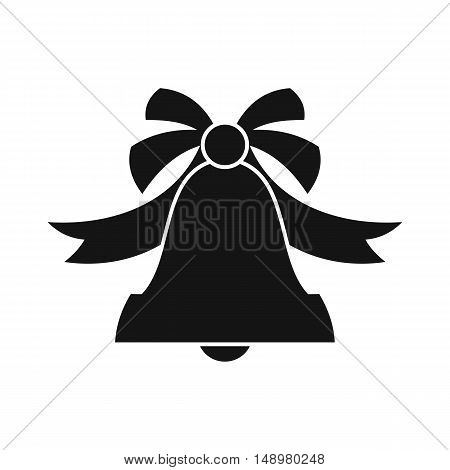 Bell icon in simple style on a white background vector illustration