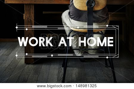 Work At Home Relax Work Space Word Concept