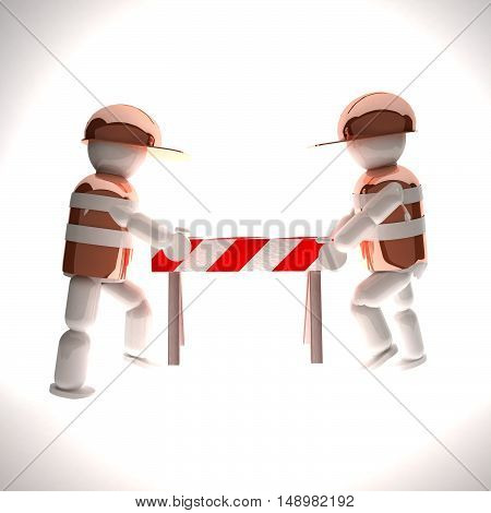 Puppets Moving A Barrier