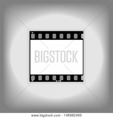 Photo frame 35mm blank. Film strip illustration. film frame vector image isolated on white background. Template photo frame design.