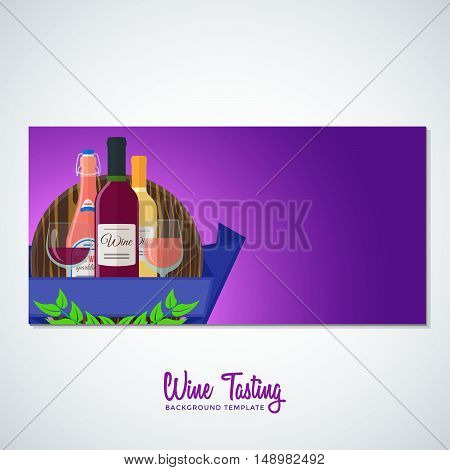 Wine Flyer Banner Backdrop Template.