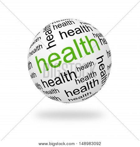 Sphere health on a white background. 3D illustration