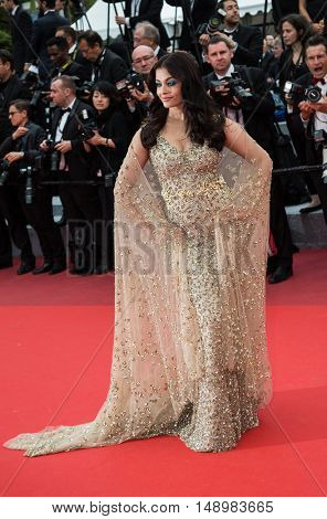 Aishwarya Rai  attends the screening of 'Slack Bay (Ma Loute)'  premiere at the 69th Festival de Cannes. May 13, 2016  Cannes, France