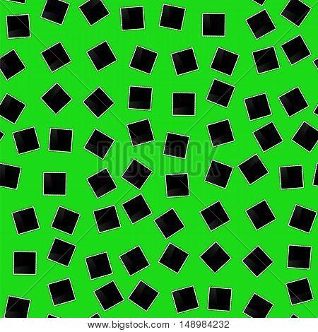 Photo Frame Seamless Pattern on Green.Photo Album Background.