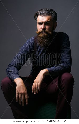 Handsome Bearded Fashionable Man