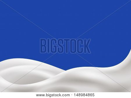 Milk or sour cream wave vector illustration. Divide on layers, upper milk wave and down milk wave, so it easy to use.