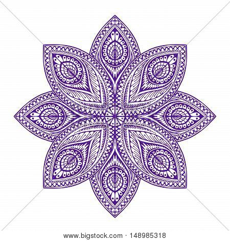 Mandala. Beautiful vintage round patterns. Vector illustration ethnic style