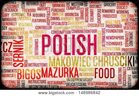 Polish Food and Cuisine Menu Background with Local Dishes