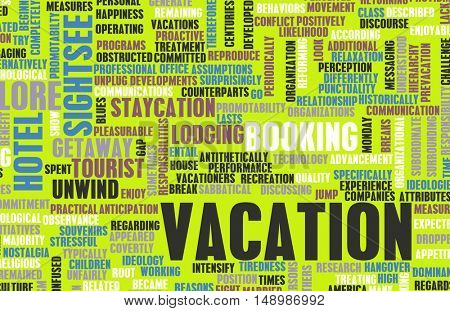 Vacation Concept and Preparation as a Background