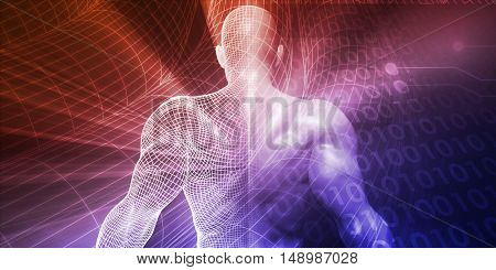 Technology Innovation and Creativity in Science Industry 3D Illustration