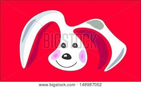 rabbit face. symbol, icon, emblem. vector illustration.