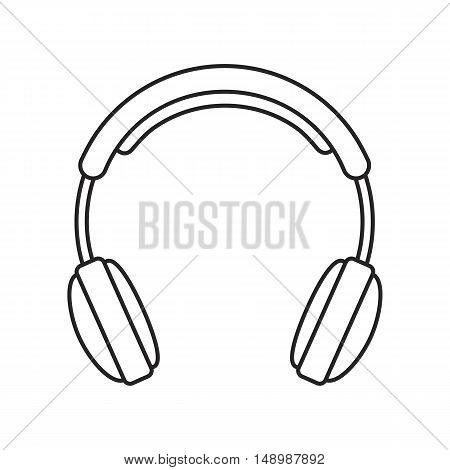 Line icon headphone. Music and technology. Vector illustration.