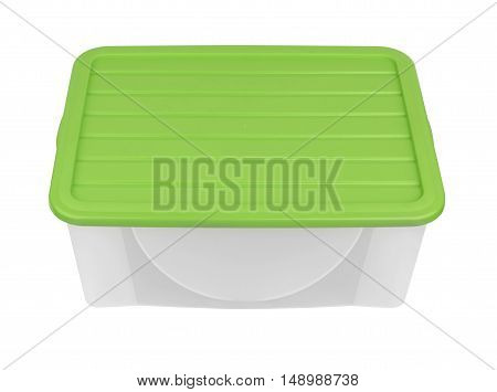 Plastic container isolated on a white background