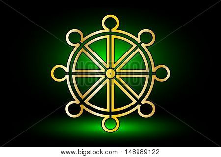 Wheel of Dharma , symbol of Buddhism