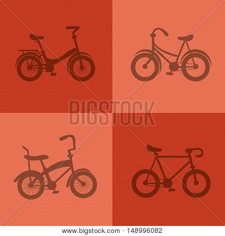 flat design assorted bikes image image vector illustration