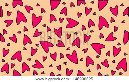 Cute heart pattern valentine days and decor