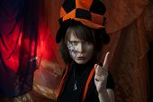 stock photo of mad hatter  - clown or angry mad hatter  - JPG