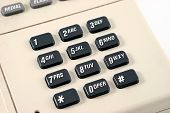 foto of dial pad  - touch tone phone dial pad waiting to be dialed - JPG