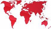 Постер, плакат: Карта мира иллюстрации простые наброски градиентных цветов