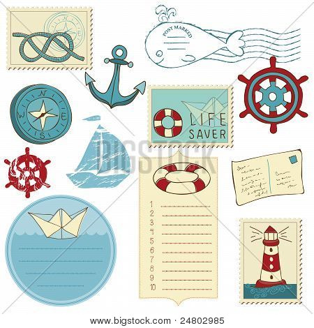 Scrapbook Sea Elements