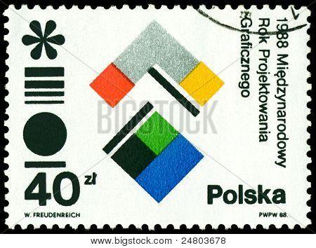Vintage  Postage Stamp. Intl. Year Of Graphik Design.