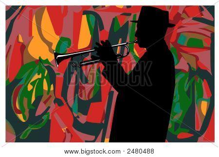 Jazz, Trumpeter : Vector
