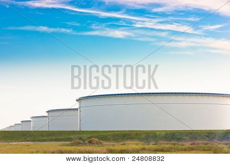 An Oil Terminal To Store Crude Oil And Petrol