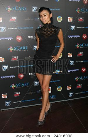 LOS ANGELES - OCT 30:  Bai Ling arrives at the sCare Foundation Halloween Launch Benefit at Conga Room - LA Live on October 30, 2011 in Los Angeles, CA