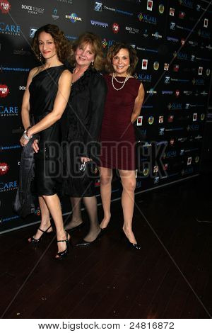 LOS ANGELES - OCT 30:  Ellen Sandweiss, Betsy Baker and Theresa Tilly arrive at the sCare Foundation Halloween Launch Benefit at Conga Room - LA Live on October 30, 2011 in Los Angeles, CA