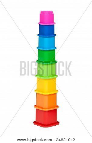 Plastic Multi-colored Children's Pyramid