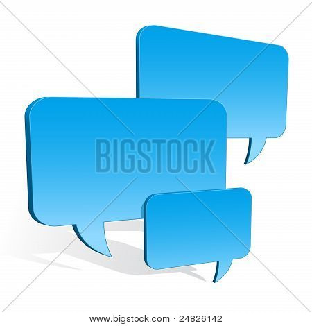 3d speech bubbles collection hovering