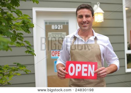 Small Business owner with