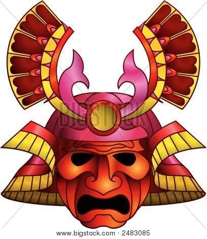 Máscara do temível Samurai