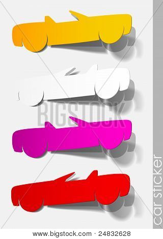 car sticker paper set