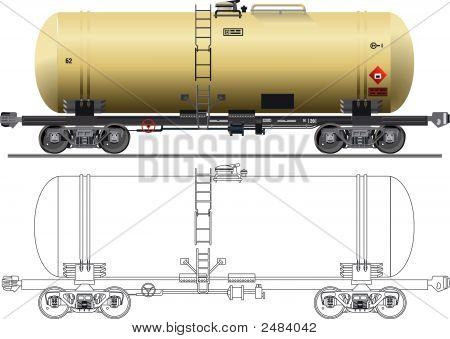 Oil Gasoline Tanker Car