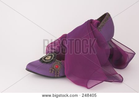 Purple Shoe With Matching Scarf