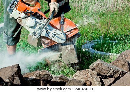 Concrete Curb Cutting