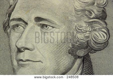 Hamilton 10 Dollar Bill