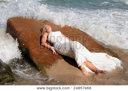Bride on the Beach