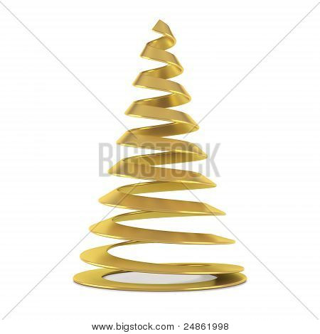 Gold Stylized Christmas Tree
