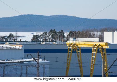 Winter Industrial Landscape