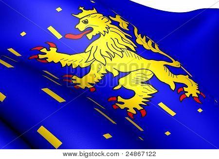 Flag Of Franche-comte, France.