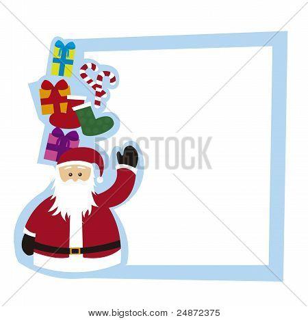 santa claus blank card